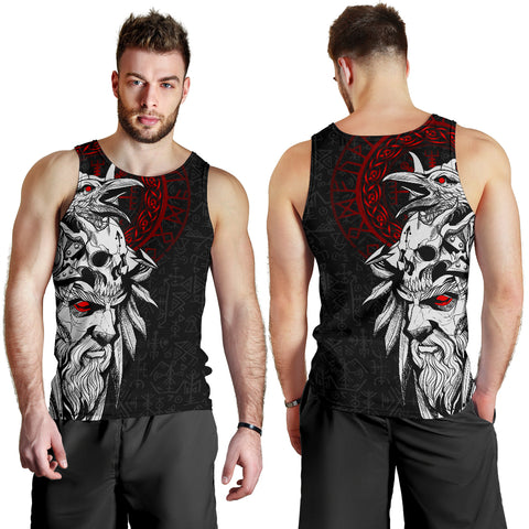 Image of 1stIceland Viking Odin And Raven Men Tank Top TH12 - 1st Iceland