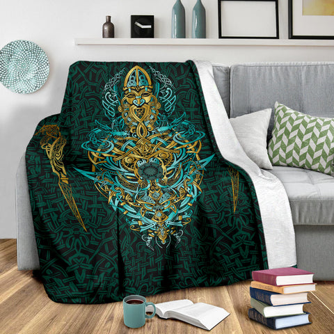 1stIceland Viking Premium Blanket, Fenrir The Vikings Wolves Th00 - 1st Iceland