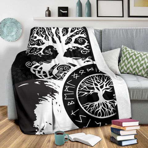 1stIceland Viking Yggdrasil Premium Blanket White TH4 - 1st Iceland