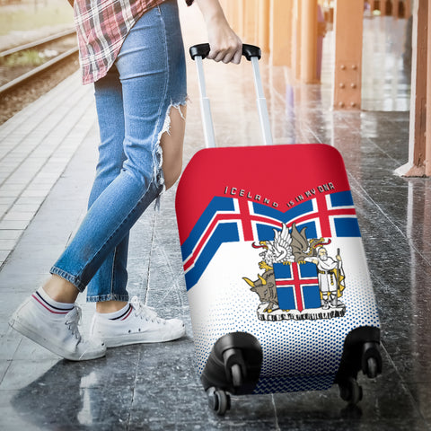 1stIceland Luggage Cover, Iceland Flag Coat Of Arms Is In My DNA K7 - 1st Iceland