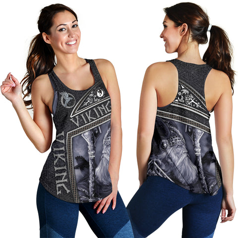 1stIceland Viking God Metal Women's Racerback Tank TH12 - 1st Iceland