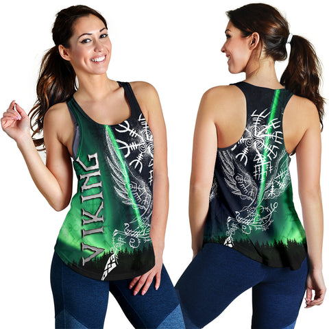 1stIceland Viking Women's Racerback Tank Northern Lights TH12 - 1st Iceland
