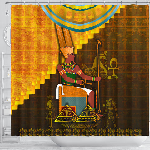 1stIceland Amun Shower Curtain Egyptian God K8 - 1st Iceland