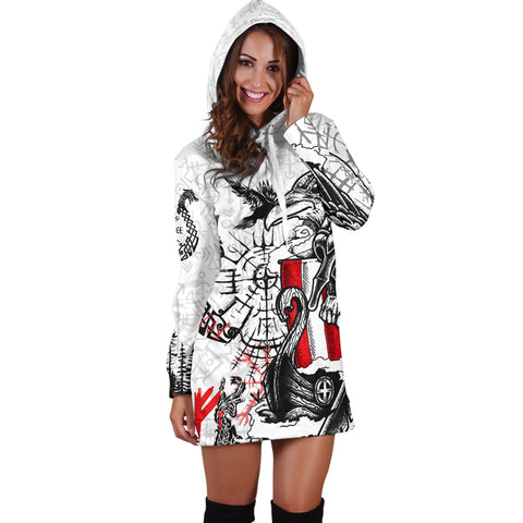 1stIceland Viking Women's Hoodie Dress Drakkar | 1stIceland.com