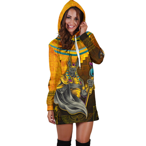 1stIceland Anubis Women Hoodie Dress Egyptian God K8 - 1st Iceland