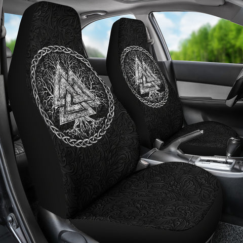 Image of 1stIceland Viking Car Seat Covers, Yggdrasil Valknut K7 - 1st Iceland