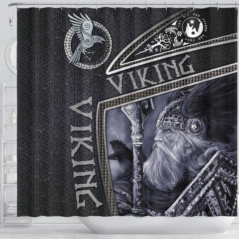 1st Iceland Viking God Metal Shower Curtain TH12 - 1st Iceland