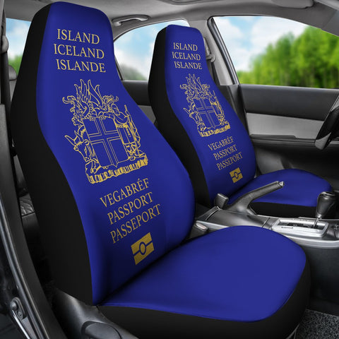 Image of 1stIceland Car Seat Covers, Iceland Passport BN01 - 1st Iceland