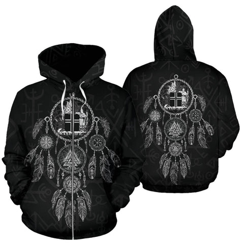 1stIceland Zip Up Hoodie, Dreamcatcher Iceland Coat Of Arms K4 - 1st Iceland