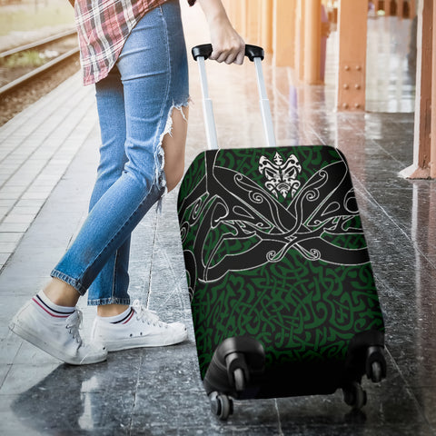 Image of 1stIceland Celtic Luggage Covers, Celtics Dragon Tattoo Th00 - Green - 1st Iceland