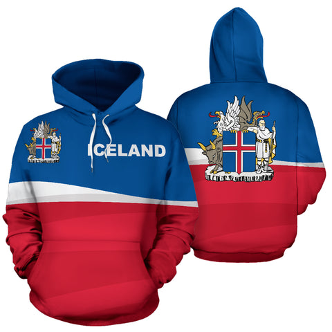Image of 1stIceland Pullover Hoodie - Iceland Coat Of Arms K5 (Ver 2.0) - 1st Iceland