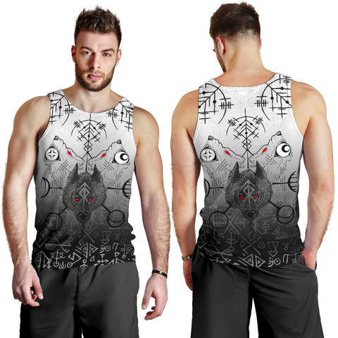 Image of 1stIceland Viking Wolf Men Tank Top Runes Special K13