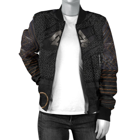 1stIceland Vikings Bomber Jacket, New Valknut 3D Armour Women TH00 - 1st Iceland