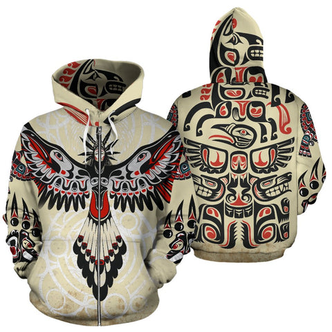 Native American Special Version Zip Up Hoodie K7 - 1st Iceland