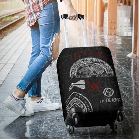 1stIceland Viking Luggage Cover, Baldur Norse Mythology Tattoo K4 - 1st Iceland