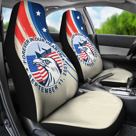 Image of 1stIceland American Firefighters Sacrifice 9.11.01 Car Seat Covers K8 - 1st Iceland