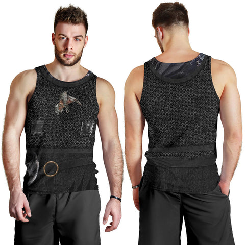 1stIceland Vikings Men Tank Top , New Raven 3D Armour Th00 - 1st Iceland