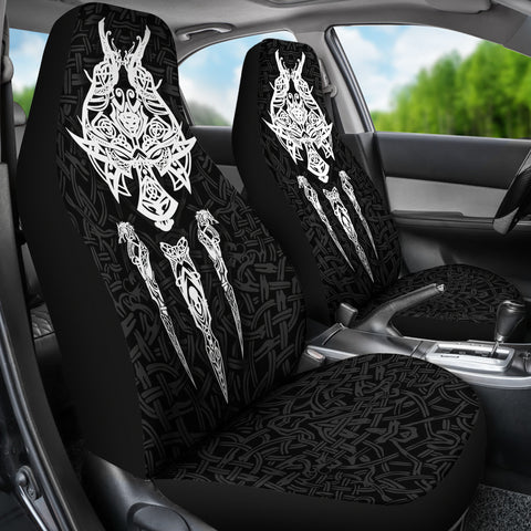 1stIceland Viking Car Seat Covers, Fenrir The Vikings Wolves Th00 - 1st Iceland