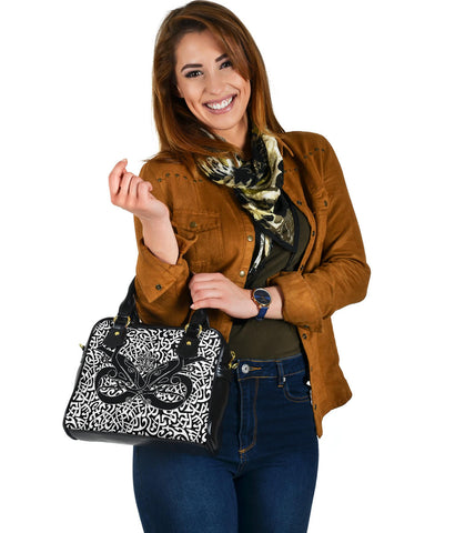 1stIceland Celtic Shoulder Handbag, Celtics Dragon Tattoo Th00 - White - 1st Iceland