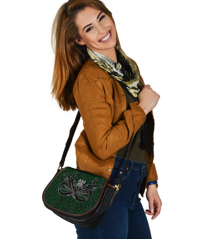 1stIceland Celtic Leather Saddle Bag, Celtics Dragon Tattoo Th00 - Green - 1st Iceland