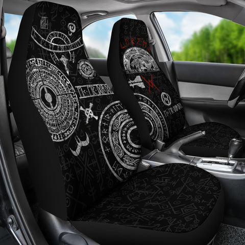 1stIceland Viking Car Seat Covers, Baldur Norse Mythology Tattoo K4 - 1st Iceland