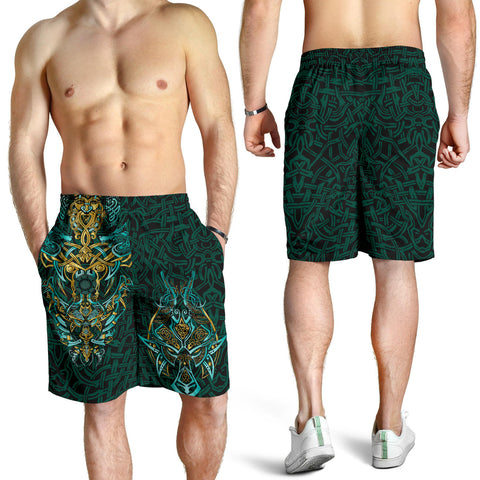 1stIceland Viking All Over Print Men's Shorts, Fenrir The Vikings Wolves Th00 - 1st Iceland