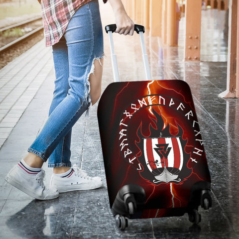 1stIceland Viking Luggage Cover, Drakkar Valknut Rune Circle A2 - 1st Iceland
