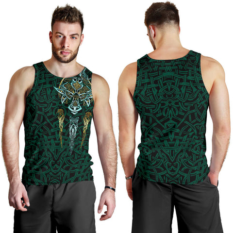 1stIceland Viking Men Tank Top, Fenrir The Vikings Wolves Th00 - 1st Iceland