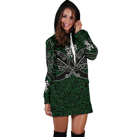 1stIceland Celtic Women Hoodie Dress, Celtics Dragon Tattoo Th00 - Green - 1st Iceland