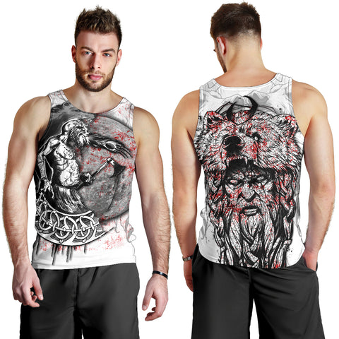 1stIceland Viking Berserker Men's Tank Top Tattoo TH12 - 1st Iceland