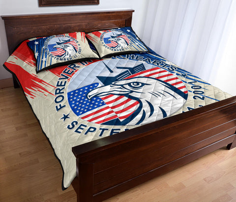 1stIceland American Firefighters Sacrifice 9.11.01 Quilt Bed Set K8 - 1st Iceland