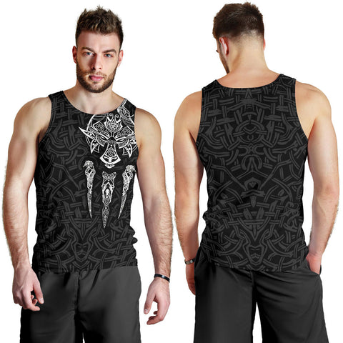 1stIceland Viking Men Tank Top, Fenrir The Vikings Wolves Th00 Black - 1st Iceland