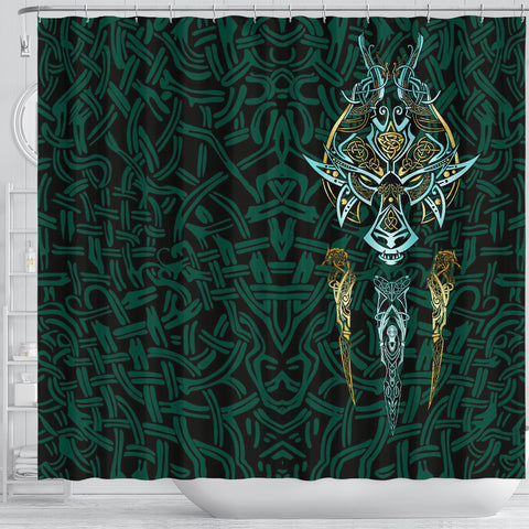 1stIceland Viking Shower Curtain, Fenrir The Vikings Wolves Th00 - 1st Iceland