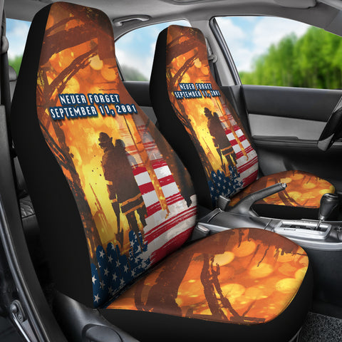 Image of 1stIceland American Firefighters Car Seat Covers 9.11.01 Never Forget K8 - 1st Iceland