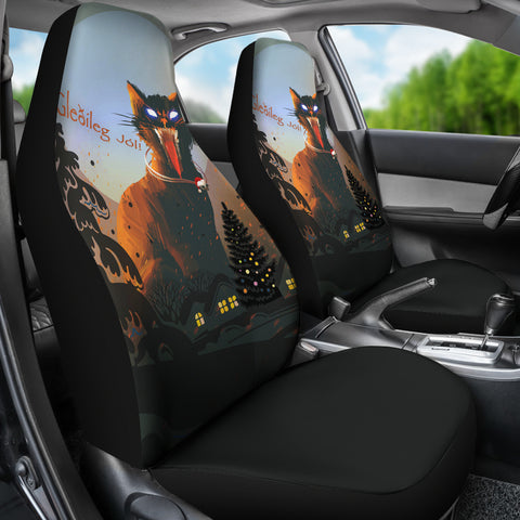 Image of 1stIceland Gleðileg Jól Car Seat Covers, Yule Cat 01 - 1st Iceland