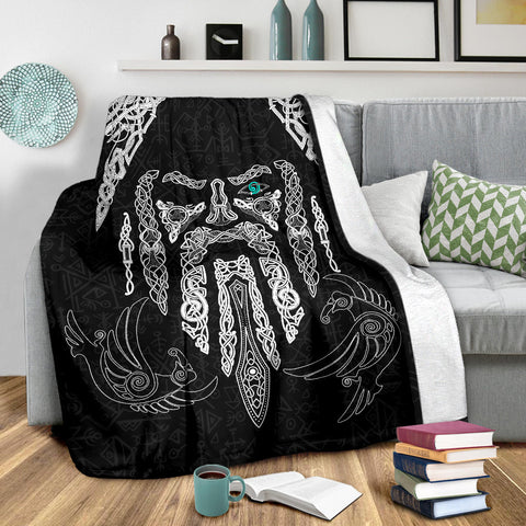 1stIceland Viking Premium Blanket, Odin's Eye with Raven K4 - 1st Iceland