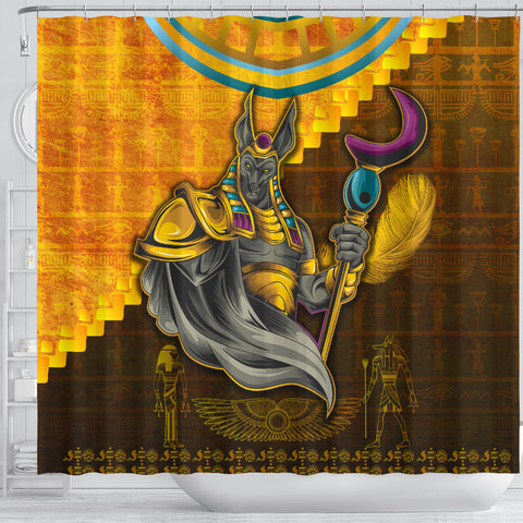 1stIceland Anubis Shower Curtain Egyptian God K8 - 1st Iceland