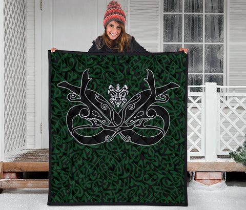 Image of 1stIceland Celtic Premium Quilt, Celtics Dragon Tattoo Th00 - Green - 1st Iceland