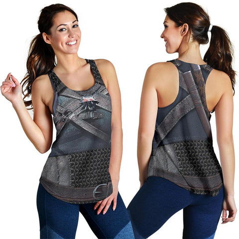 1sticeland Women's Racerback Tanks, New Witcher Armor TH00 - 1st Iceland