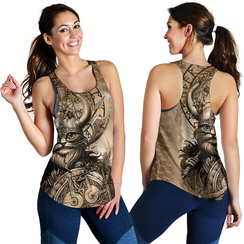1stIceland Viking Women's Racerback Tank Classic Cat Version TH12 - 1st Iceland