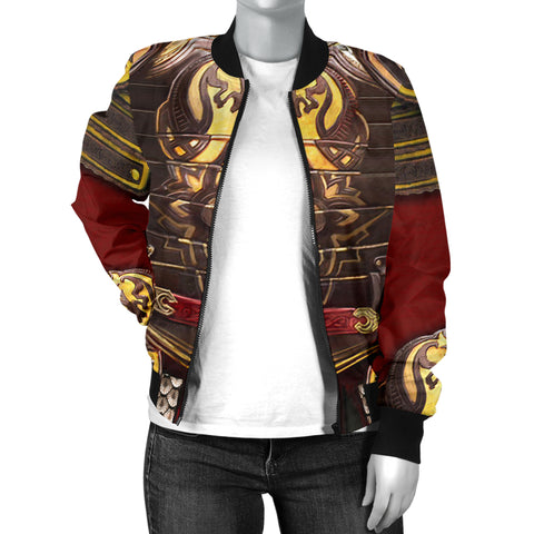 1stIceland Women's Bomber Jacket, 3D King Theore Armor Th00 - 1st Iceland