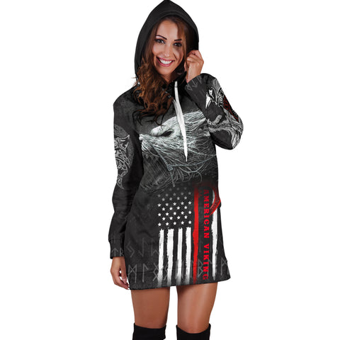 Image of 1stIceland American Viking Fenrir Women Hoodie Dress TH12 - 1st Iceland