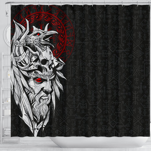 1stIceland Viking Odin And Raven Shower Curtain TH12 - 1st Iceland