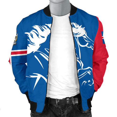 1stIceland Bomber Jacket, Icelandic Horse Flag Coat Of Arms K4 - 1st Iceland