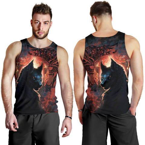1stIceland Viking Men's Tank Top Fenrir Grunge Style TH12 - 1st Iceland
