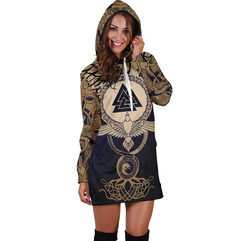 1stIceland Viking Hoodie Dress, Wolf Celtic Galaxy J1 - 1st Iceland