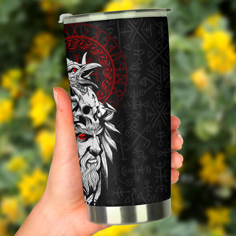 1stIceland Viking Odin And Raven Tumbler TH12 - 1st Iceland