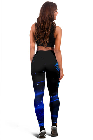 Image of (Custom Personalised) 1stIceland Evil Eye Women Leggings Original Style - Blue K8 - 1st Iceland