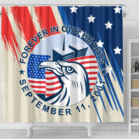 Image of 1stIceland American Firefighters Sacrifice 9.11.01 Shower Curtain K8 - 1st Iceland