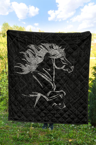 Image of 1stIceland Viking Premium Quilt, Icelandic Horse Coat Of Arms K4 - 1st Iceland